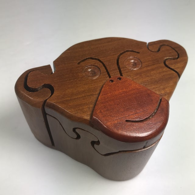 Wooden Monkey Puzzle Box For Sale - Image 9 of 9