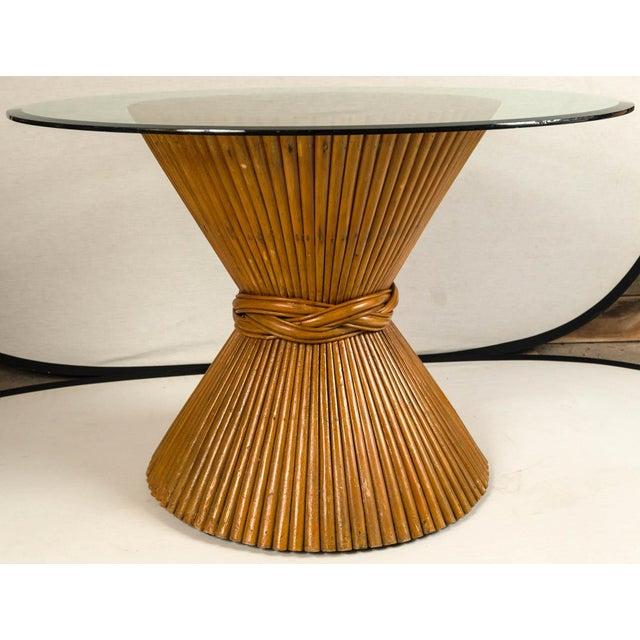 Transparent Vintage McGuire Bamboo Pedestal Table For Sale - Image 8 of 10