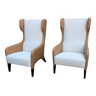 Gio Ponti Hotel Parco Dei Principi Style Highback Lounge Chairs -a Pair For Sale