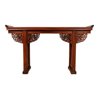 Antique Chinese Open Carved Altar Table For Sale