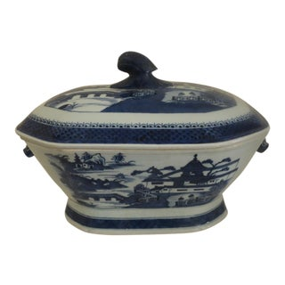 Qing Chinese Export Canton Tureen For Sale