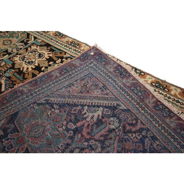 Vintage Mid-Century Persian Mahal Rug - 4′1″ × 6′7″ For Sale In Dallas - Image 6 of 8