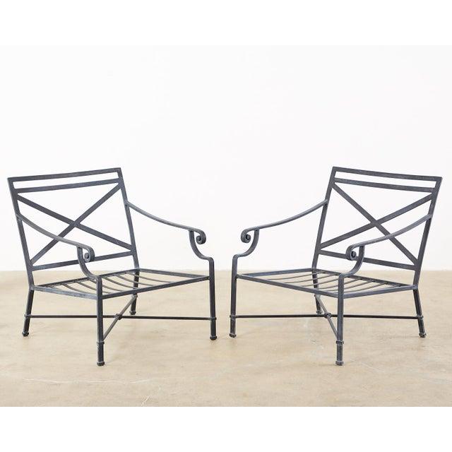 Neoclassical Brown Jordan Venetian Patio Lounge Chairs - Set of 10 For Sale - Image 3 of 11