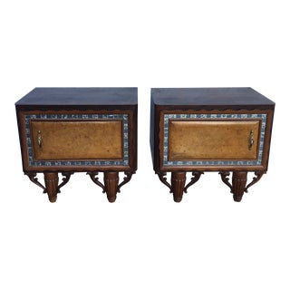 1940s Art Deco Side Tables - a Pair For Sale