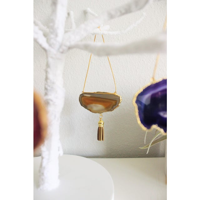 Modern Boho Agate Holiday Ornaments - Set of 7 - Image 9 of 11