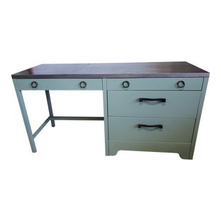Vintage Metal Writing Desk For Sale