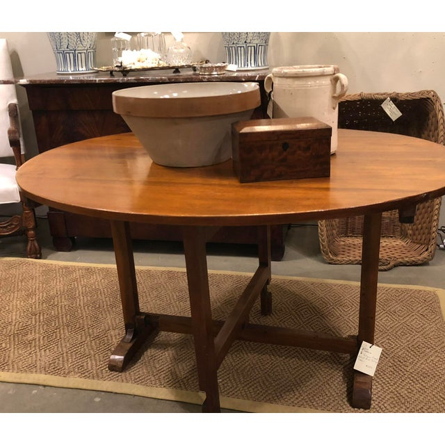 Wood Late 19th Century Antique French Wine Tasting Table For Sale - Image 7 of 9