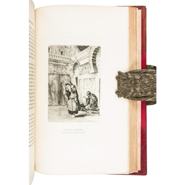 """4 volumes. Illustrated with original etchings by Ad. Lalauze - Adolphe, (8vo) 22.5x14 cm (9x5½"""") period three-quarter red..."""