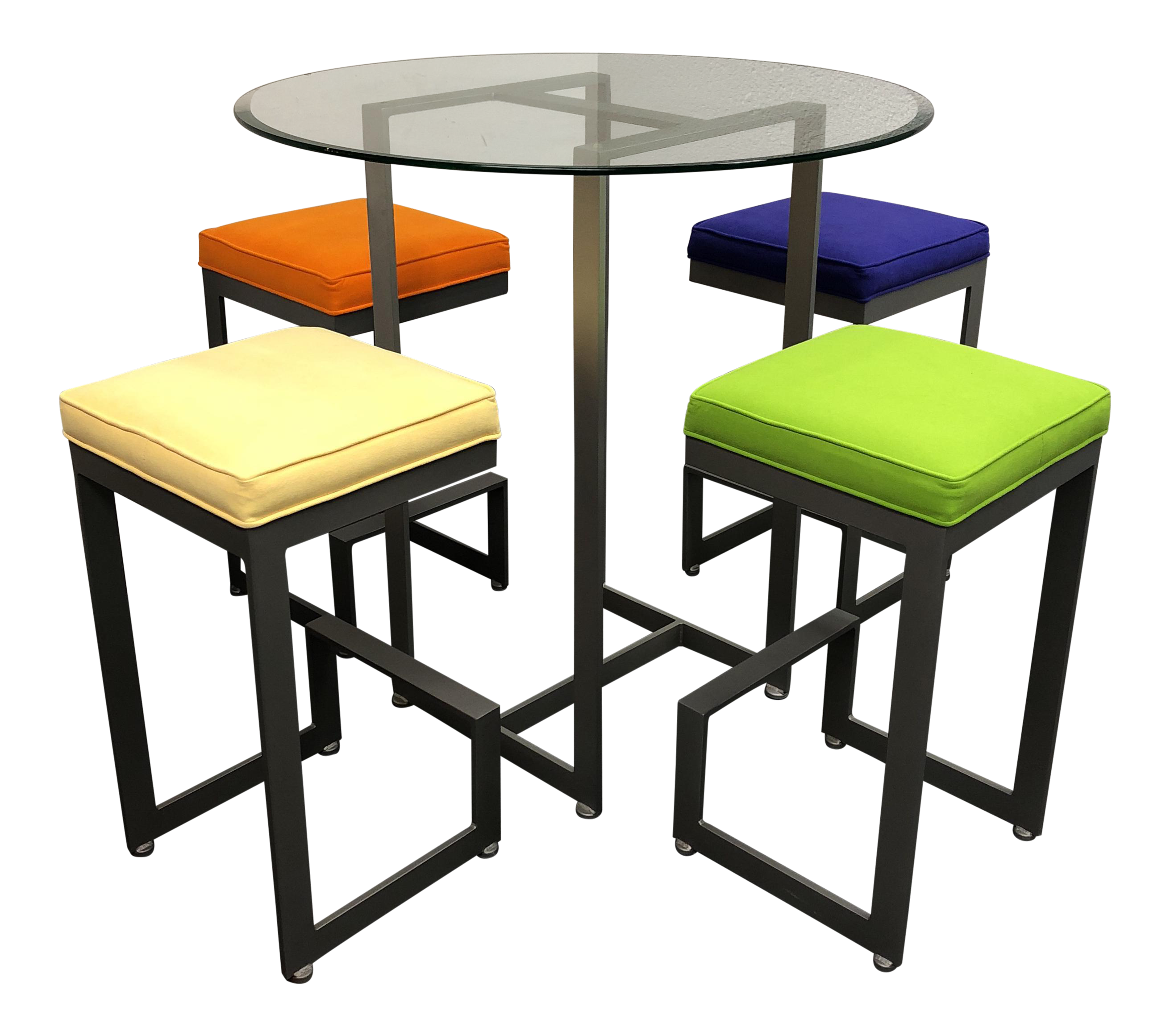 Johnston Casuals Bistro Bar Table + Four Stools   Dining Set