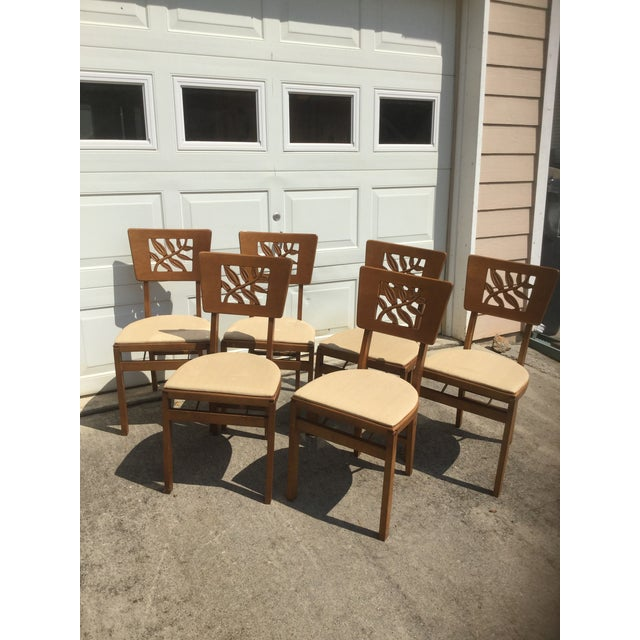 Vintage Carved Art Deco Chairs - Set of 6 For Sale - Image 4 of 11