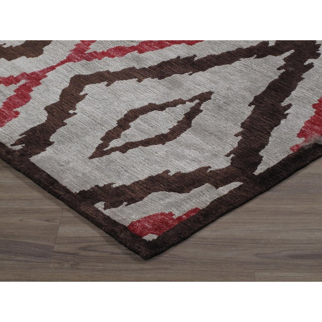 Traditional Stark Studio Rugs Traditional New Oriental Tibetan Silk Rug - 10′ × 14′3″ For Sale - Image 3 of 5