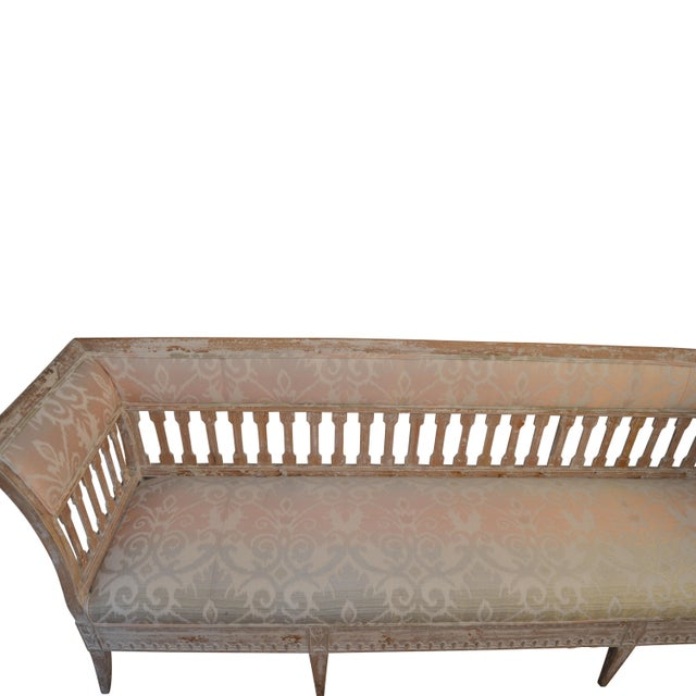 "Antique Louis XVI Swedish Reupholstered Banquette Late 19th Century Measures 95""Lx24""Dx35""W"