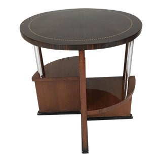 1930 French Mahogany and Macassar Side Table For Sale