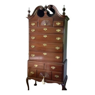 Philadelphia Style Queen Anne Highboy Reproduction For Sale