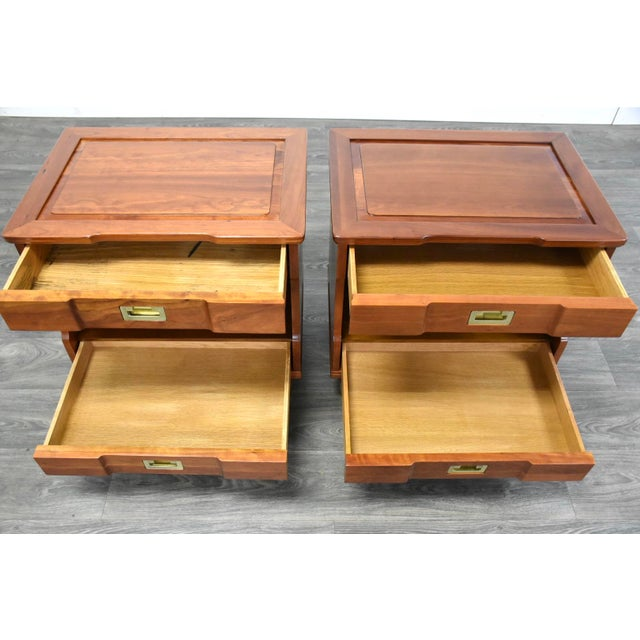 Cherry Nightstands by John Widdicomb - a Pair For Sale - Image 10 of 12