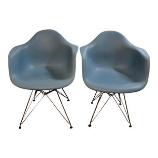 Charles & Ray Eames for Herman Miller DSR Peacock Blue Chairs - a Pair For Sale