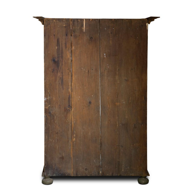 Scandinavian 19th Century Hand Painted Kas/Wardrobe Dated 1826 For Sale - Image 4 of 9