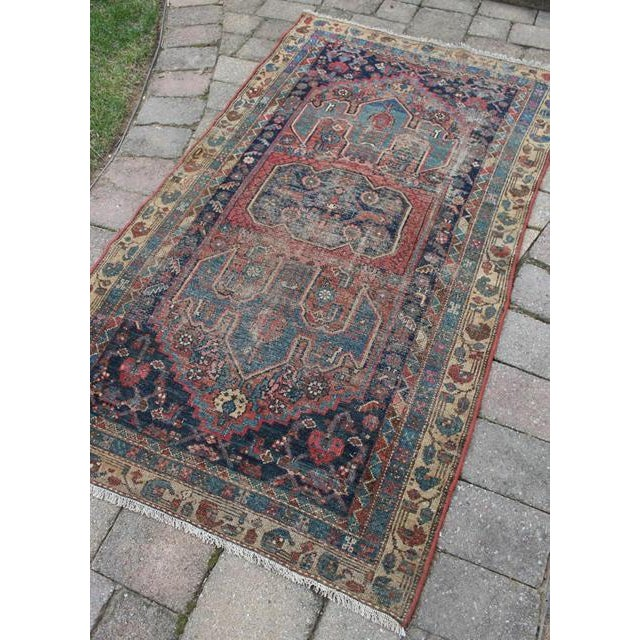 """Antique Persian Rug - 3'6"""" x 6'2"""" - Image 3 of 8"""