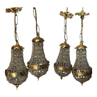 Miniature Pendant Chandeliers - Set of 4