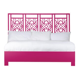 Tulum Bed King - Bright Pink For Sale
