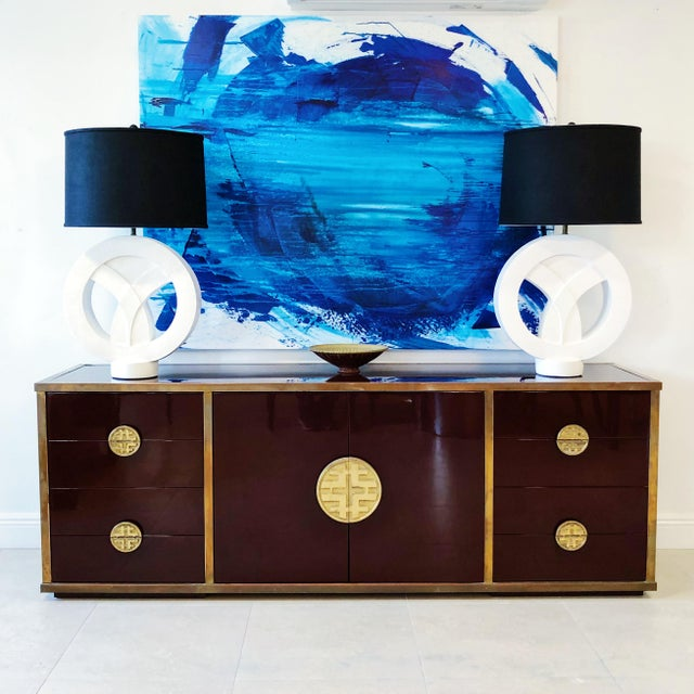 Giacomo Sinopoli for Liwan's of Rome, Italy Bronze Asian Hardware Credenza Sideboard, 1972 For Sale - Image 11 of 12
