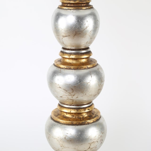 Frederick Cooper Glamorous Silver and Gold Leaf Table Lamp by Frederick Cooper Studios, Circa 1940s For Sale - Image 4 of 8