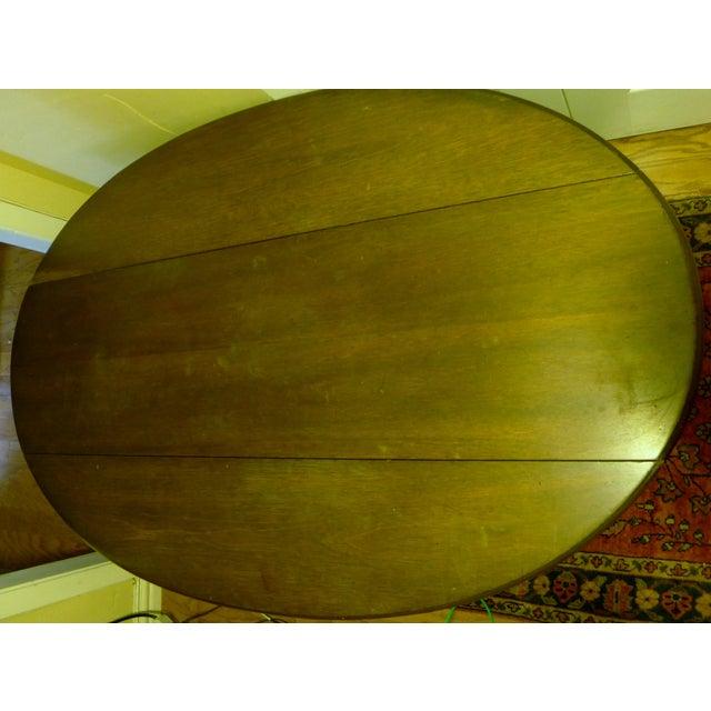 Kittinger English Oval Drop-Leaf Coffee Table - Image 4 of 8