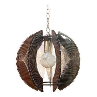Mid-Century Modern Lucite Pendant Light For Sale