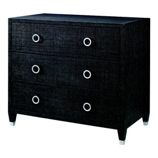 Century Furniture Charleston 3 Drawer Chest (w/glass), Black For Sale