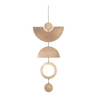 Minimal Bronze Wall Hanging For Sale