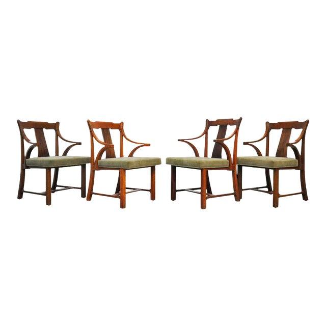 "Dunbar Set of Four ""Greene & Greene"" Chairs by Edward Wormley - Image 1 of 8"