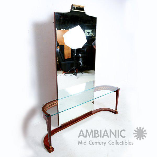 Silver Italian Console Table With Mirror For Sale - Image 8 of 8