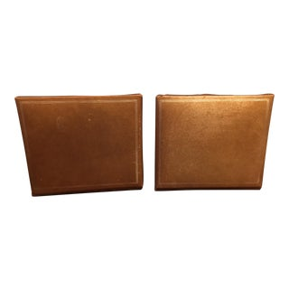 Mid-Century Gold Tone Bookends - A Pair