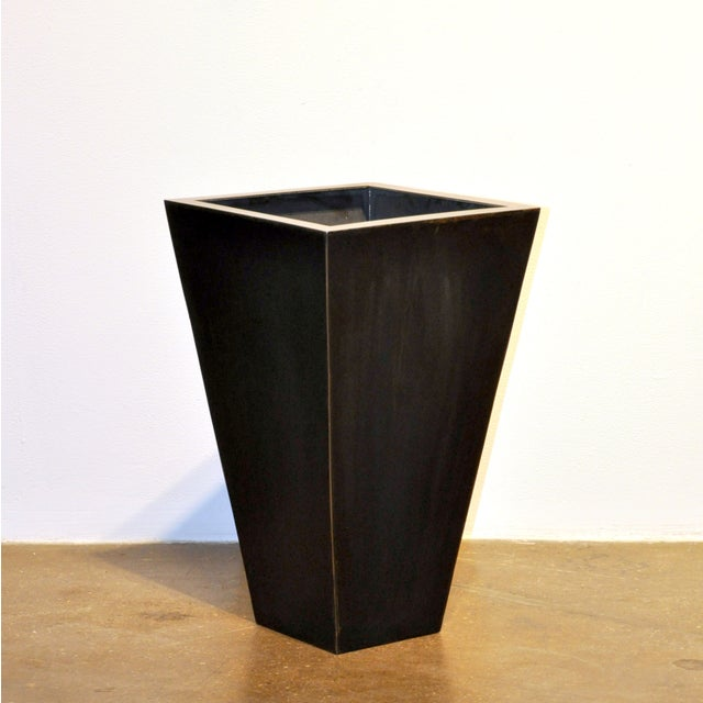 Medium Pyramid Steel Box Planter For Sale In New York - Image 6 of 6