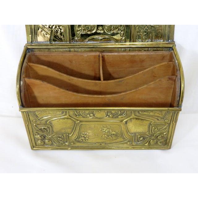 1900's Antique Brass & Wood Desk Letter Box For Sale - Image ... - 1900's Antique Brass & Wood Desk Letter Box Chairish