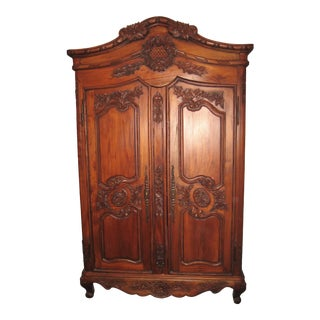 20th Century Traditional French Wooden Armoire For Sale