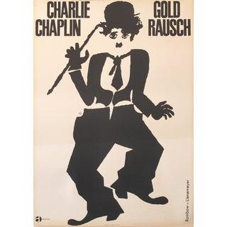 1960s Original German Charlie Chaplin Movie Poster, Gold Rausch For Sale