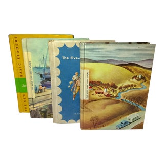 Vintage 1950s Children's School Basic Readers & Alice and Jerry Book- Set of 4 For Sale