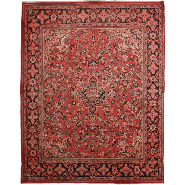 """RugsinDallas Hand Knotted Wool Persian Mahal Rug - 10'3"""" X 13'2 For Sale"""