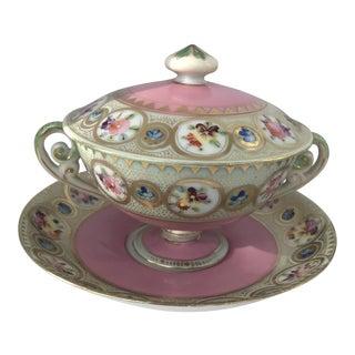 Set of Six Antique Pink Louis XVI Trembleuse Lidded Cups For Sale