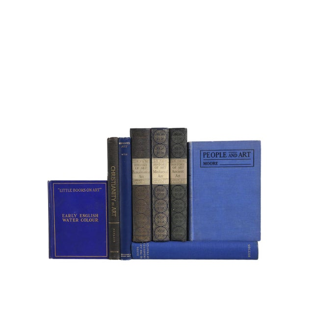 Traditional Vintage Book Gift Set: Indigo Art Selections, S/8 For Sale - Image 3 of 5