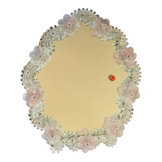 Floral Framed Murano Table Mirror