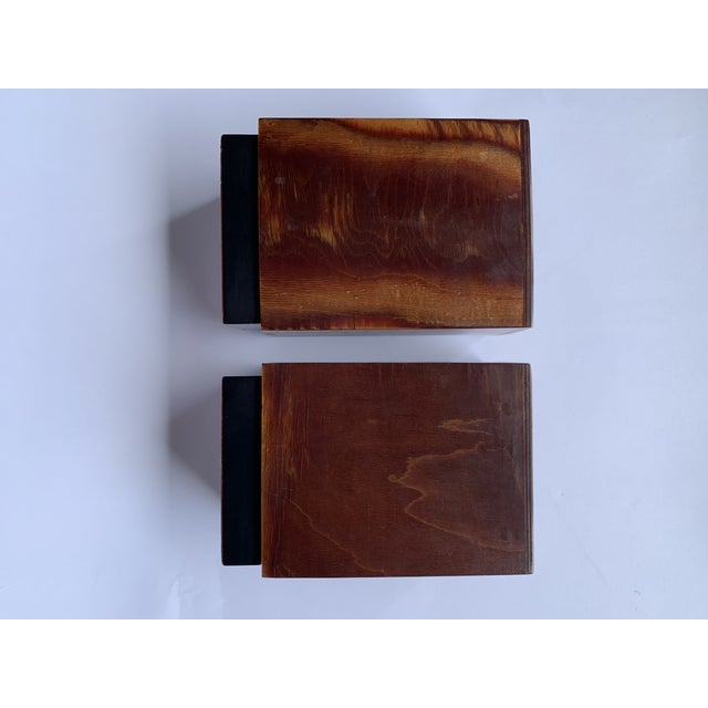 Burl Wood Bookends - a Pair For Sale - Image 4 of 8