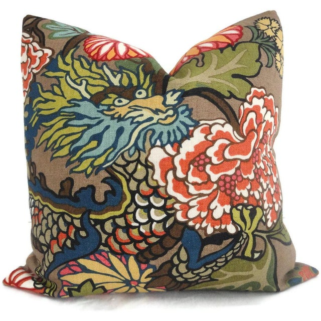 Add a pop o' color to your decor with this mocha chiang mai dragon pillow cover. If your room is in need of a statement...