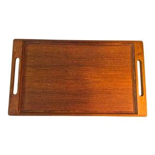 1960s Vintage Dansk Teak Serving Tray For Sale