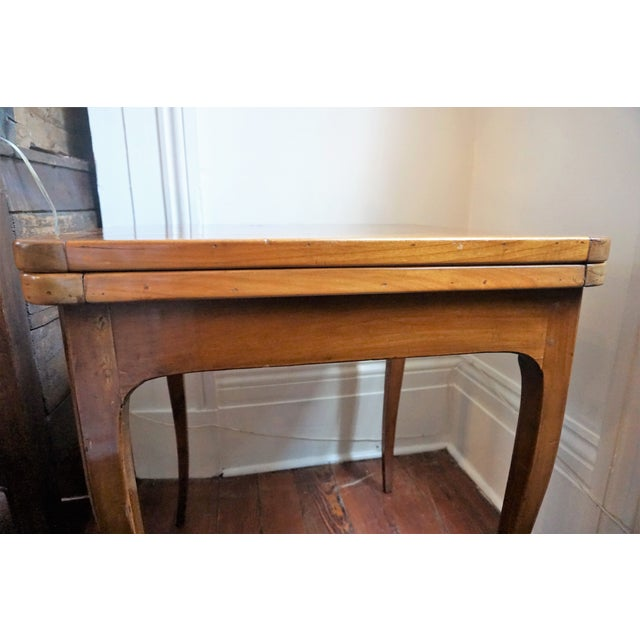 19th Century French Walnut Game Table For Sale - Image 4 of 9