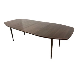 Milo Baughman for Dillingham Esprit Walnut Dining Table With Two Leaves For Sale