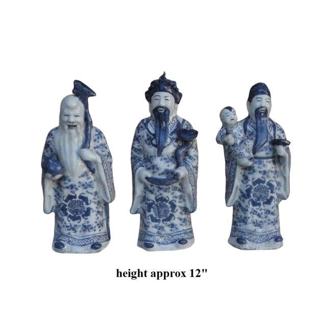 Chinese Handmade Blue & White Porcelain - Set of 3 - Image 7 of 7
