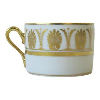 Richard Ginori Designer Italian White and Gold Coffee or Tea Cup For Sale