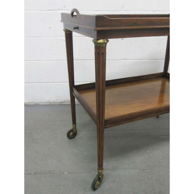 French Rosewood Two-Tier Bar Cart For Sale - Image 4 of 7